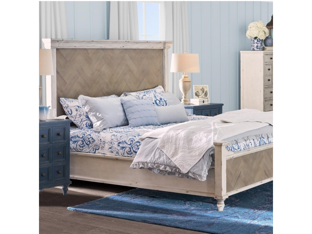 Legends Furniture Laurel GroveCalifornia King Parquet Panel Bed