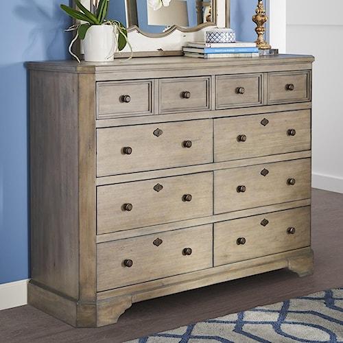 Legends Furniture Laurel Grove Tall 8 Drawer Dresser