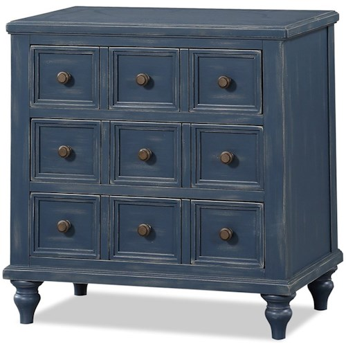 Legends Furniture Laurel Grove 3 Drawer Apothecary Nightstand