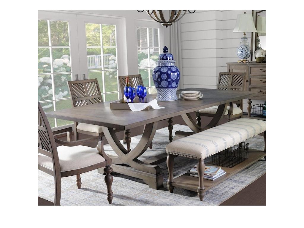 Legends Furniture Laurel GroveTrestle Table