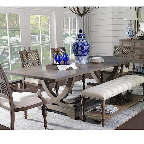 Legends Furniture Laurel Grove Trestle Table with Leaf
