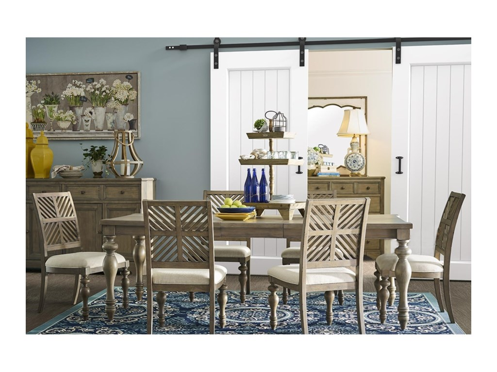 Legends Furniture Laurel Grove7 Piece Table and Chair Set
