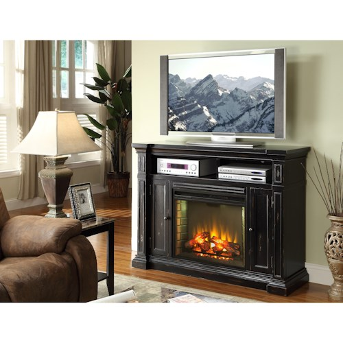 Legends Furniture Manchester Television Console with Electric Fireplace