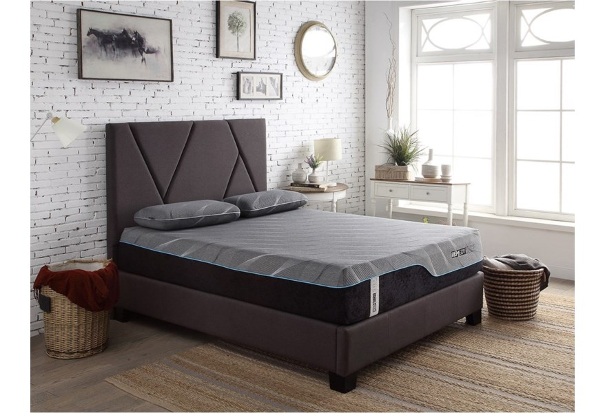 Legends Furniture Modern Beds Contemporary Queen Upholstered Bed
