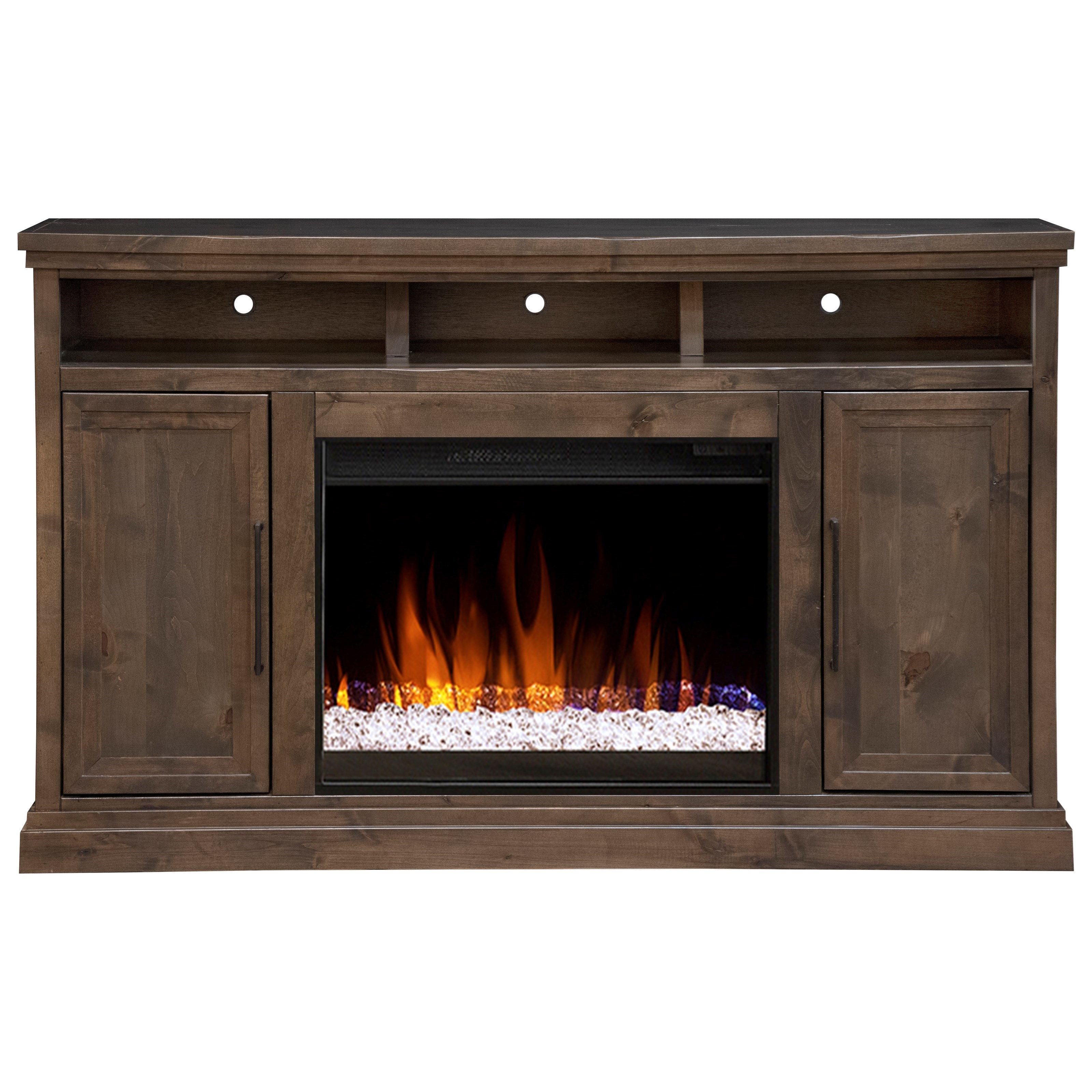 """Transitional 65"""" TV Stand with Fireplace"""