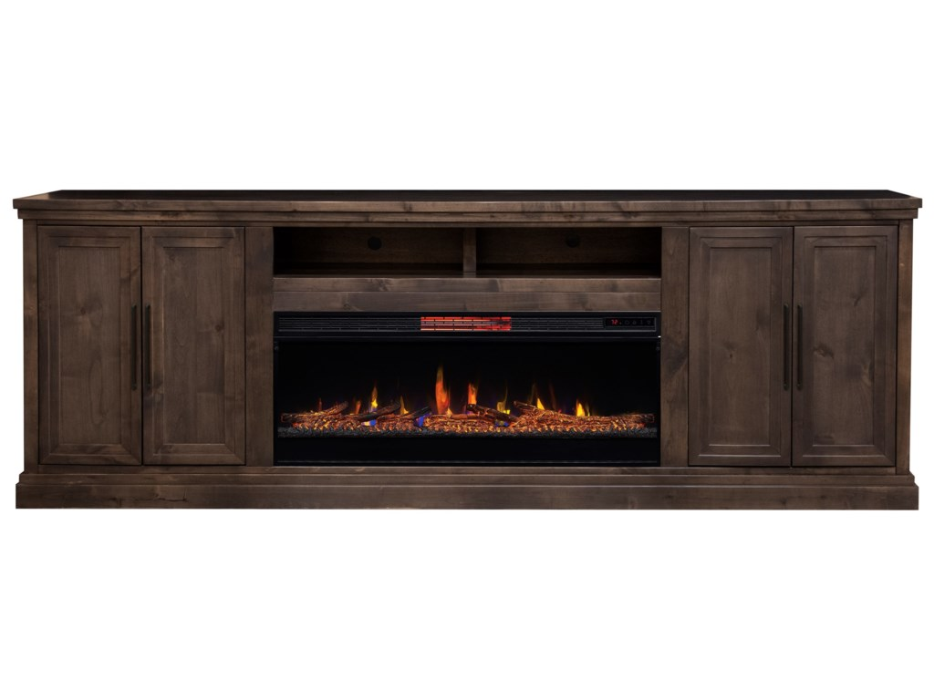 Legends Furniture MontereyTV Stand with Built-In Fireplace