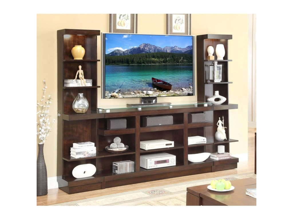 Legends Furniture Novella Entertainment Wall Console With Bookcase