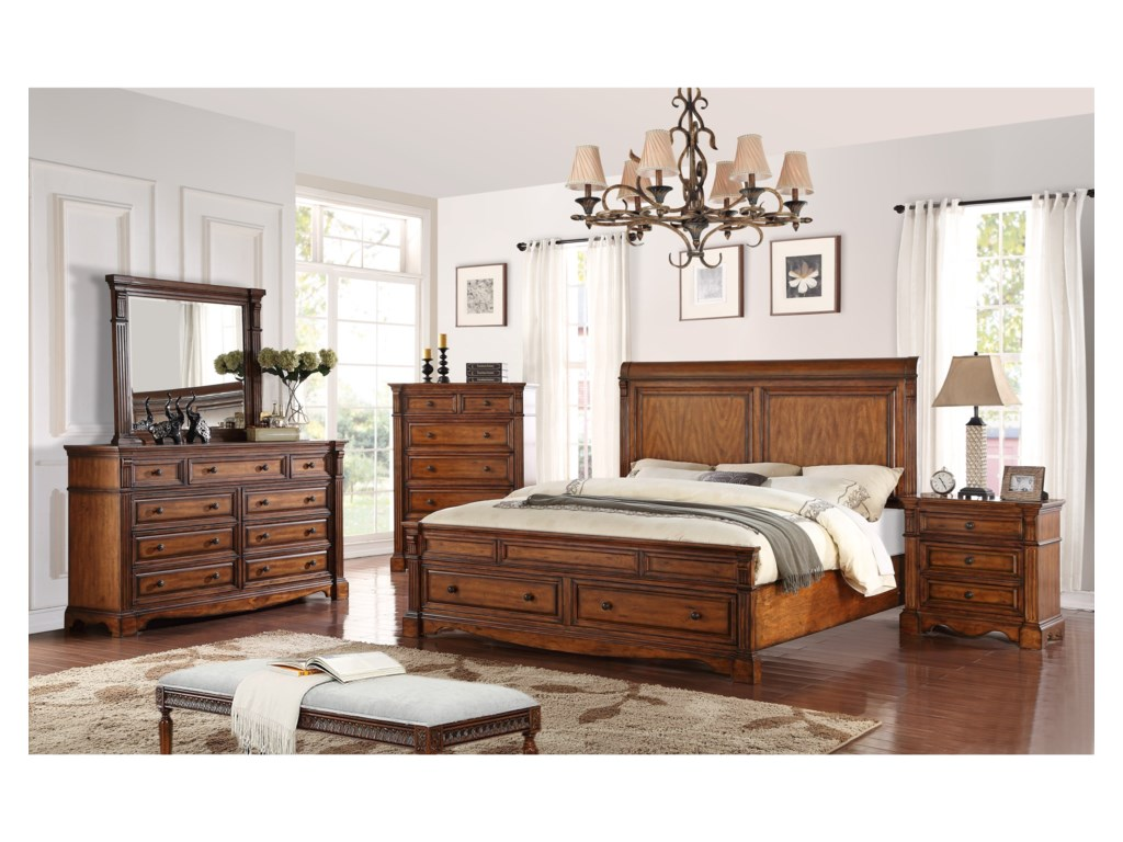 Legends Furniture ParliamentKing Bedroom Group