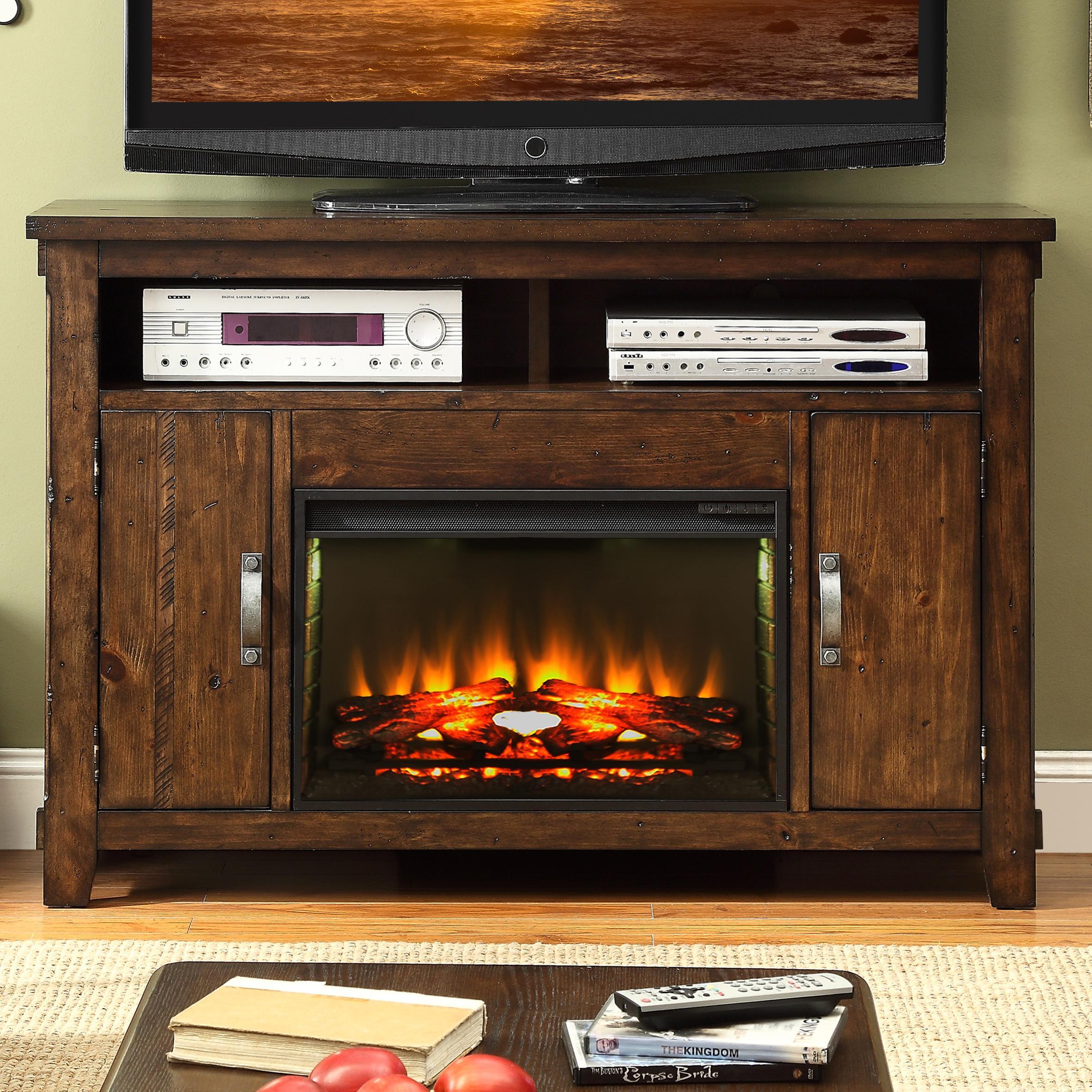 Legends Furniture Restoration Rustic Casual Fireplace TV Console ...