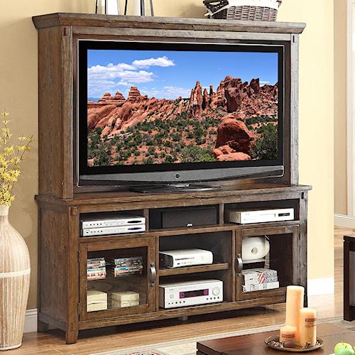 Legends Furniture Restoration Rustic Casual TV Console and Hutch