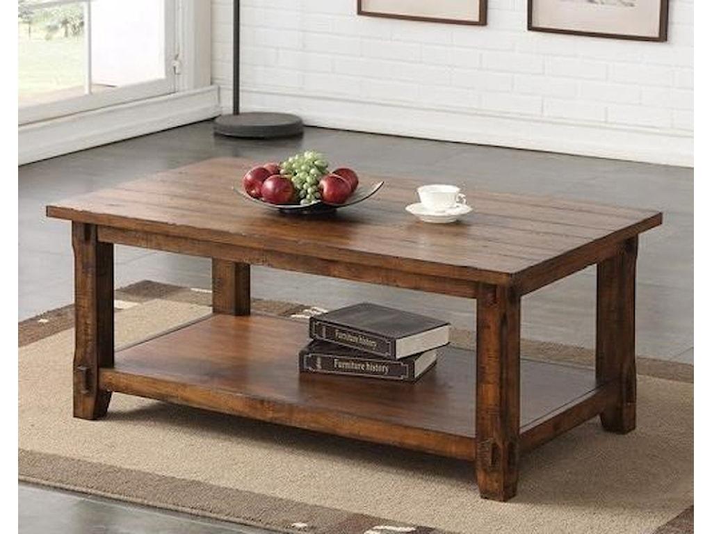 Legends Furniture Restoration Restoration Coffee Table With Shelf