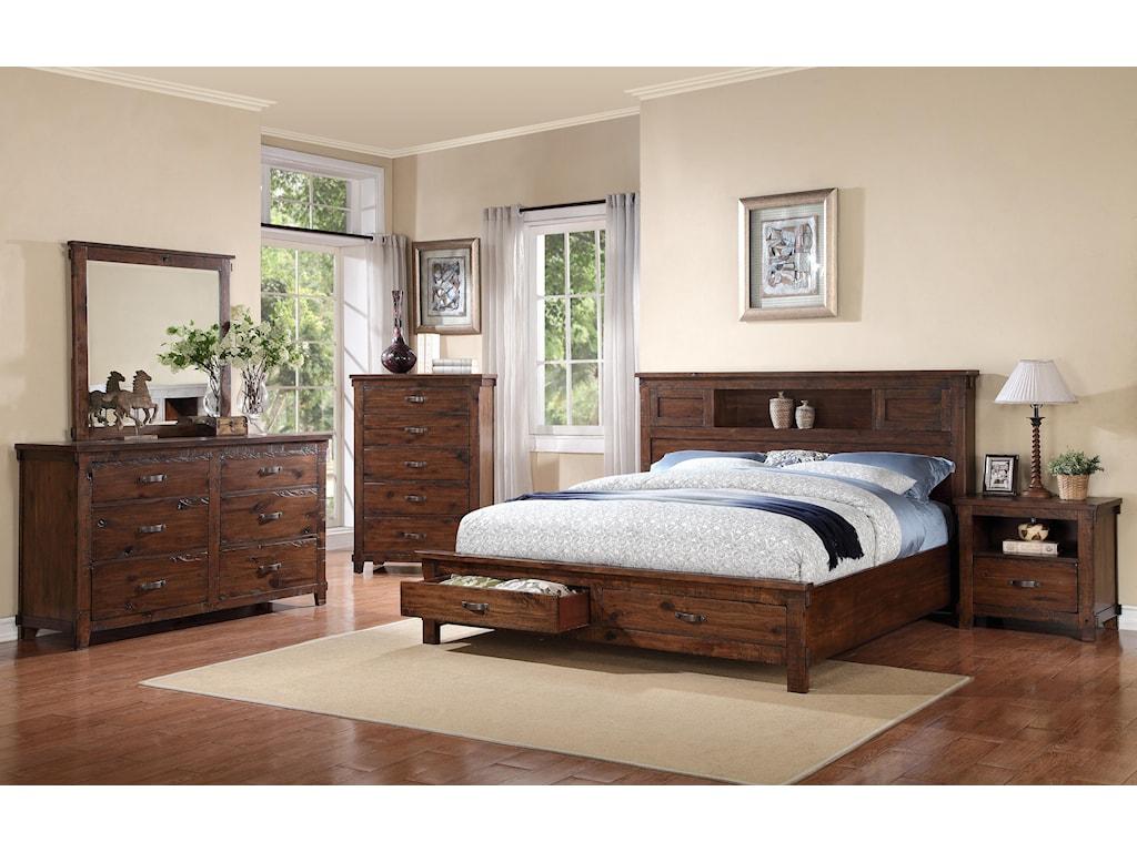 Legends Furniture RestorationCalifornia King Storage Bed
