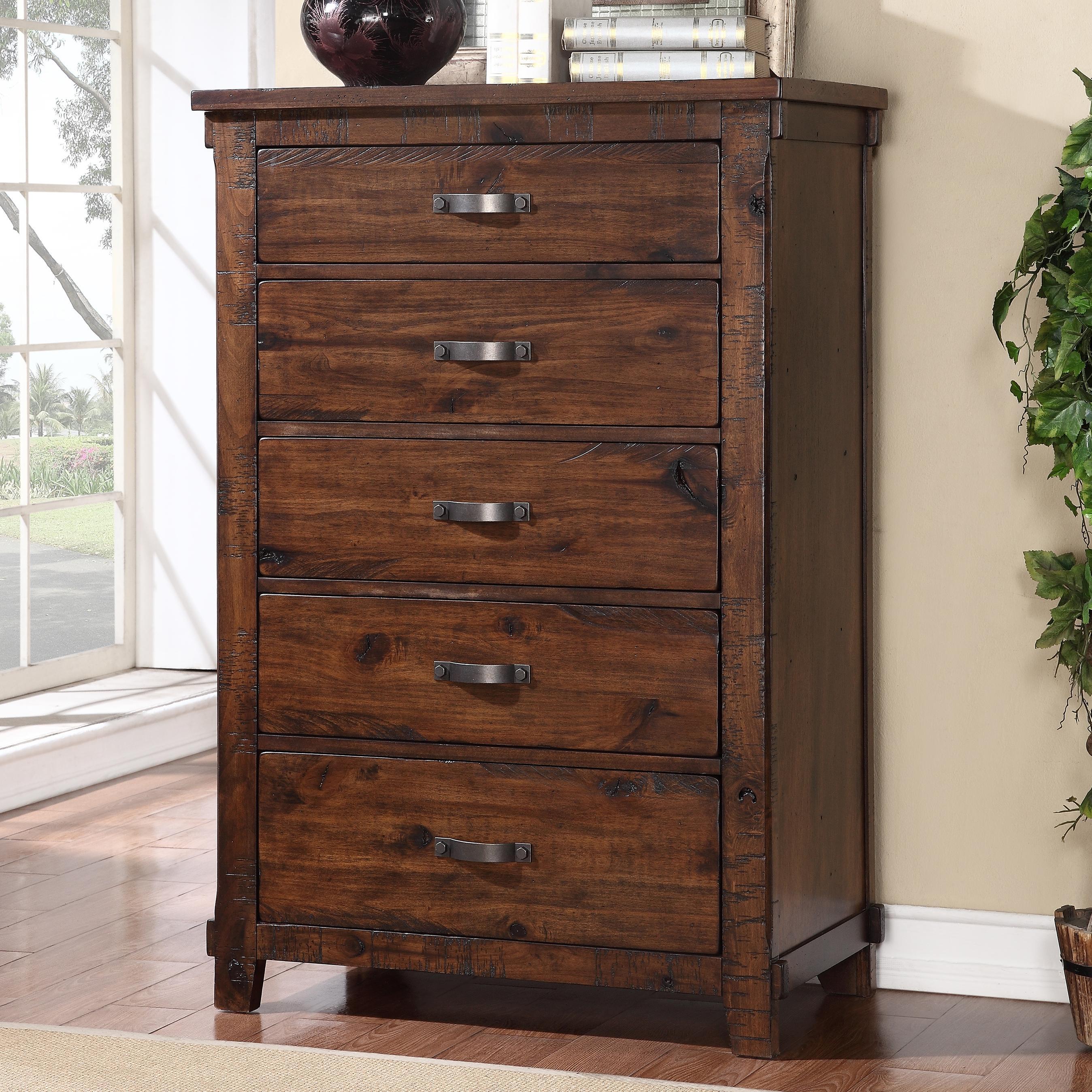 Legends Furniture Restoration Rustic Restoration 5 Drawer Chest