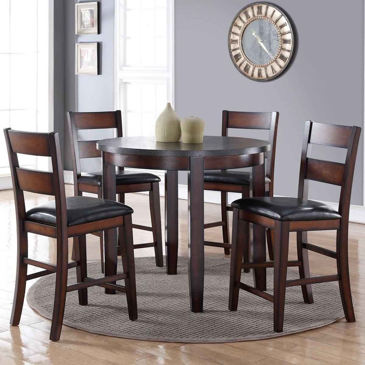 Legends Furniture Rockport 5 Piece Pub Table Set With Stain Resistant Top