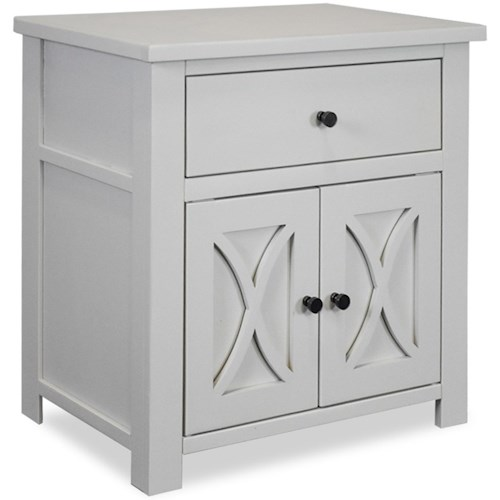 Legends Furniture Salinas Casual 1 Drawer 2 Door Nightstand