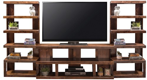 Legends Furniture Sausalito Modern Entertainment Wall Unit with 14 ...