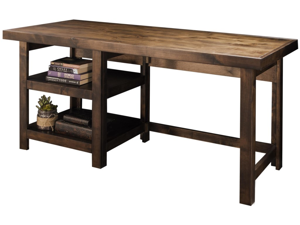 Legends Furniture Sausalito Workstation With Two Open Shelves