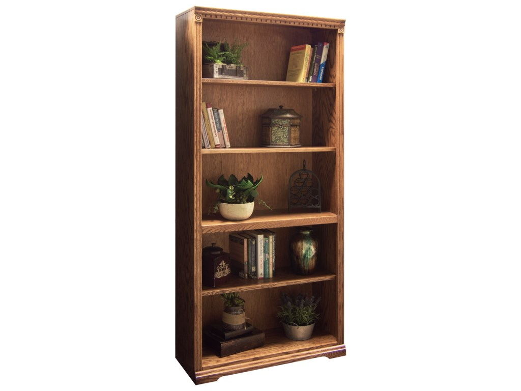 Legends Furniture ScottsdaleBookcase with 1 Fixed & 3 adj. Shelves