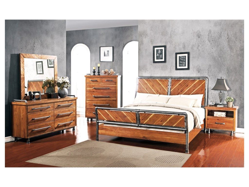 Legends Furniture Steampunk CollectionKing Bedroom Group