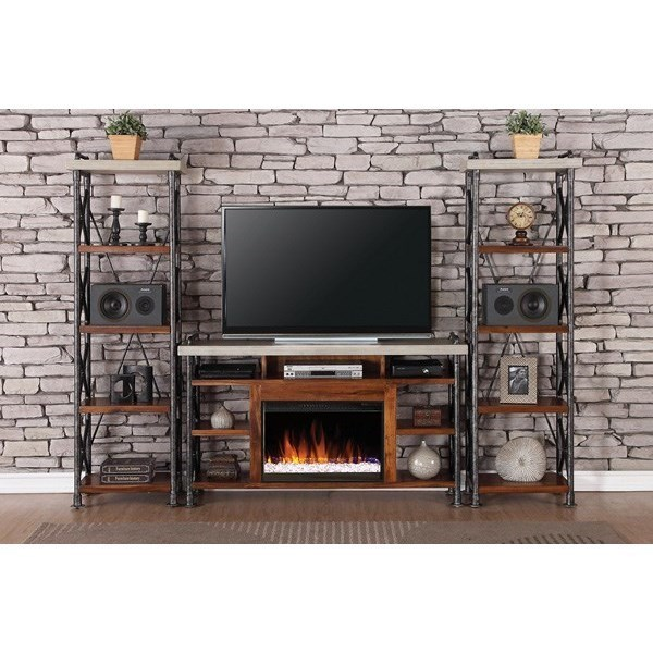 Legends Furniture Steampunk Collection Industrial Fireplace