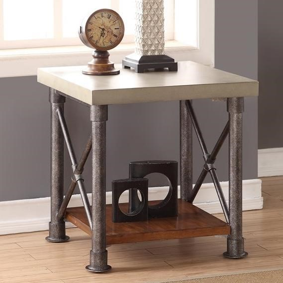 Steampunk Collection End Table With Shelf By Legends Furniture