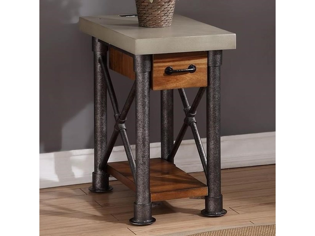 competitive price 53db9 16274 Steampunk Collection Steampunk Side Table with Drawer by Legends Furniture  at VanDrie Home Furnishings