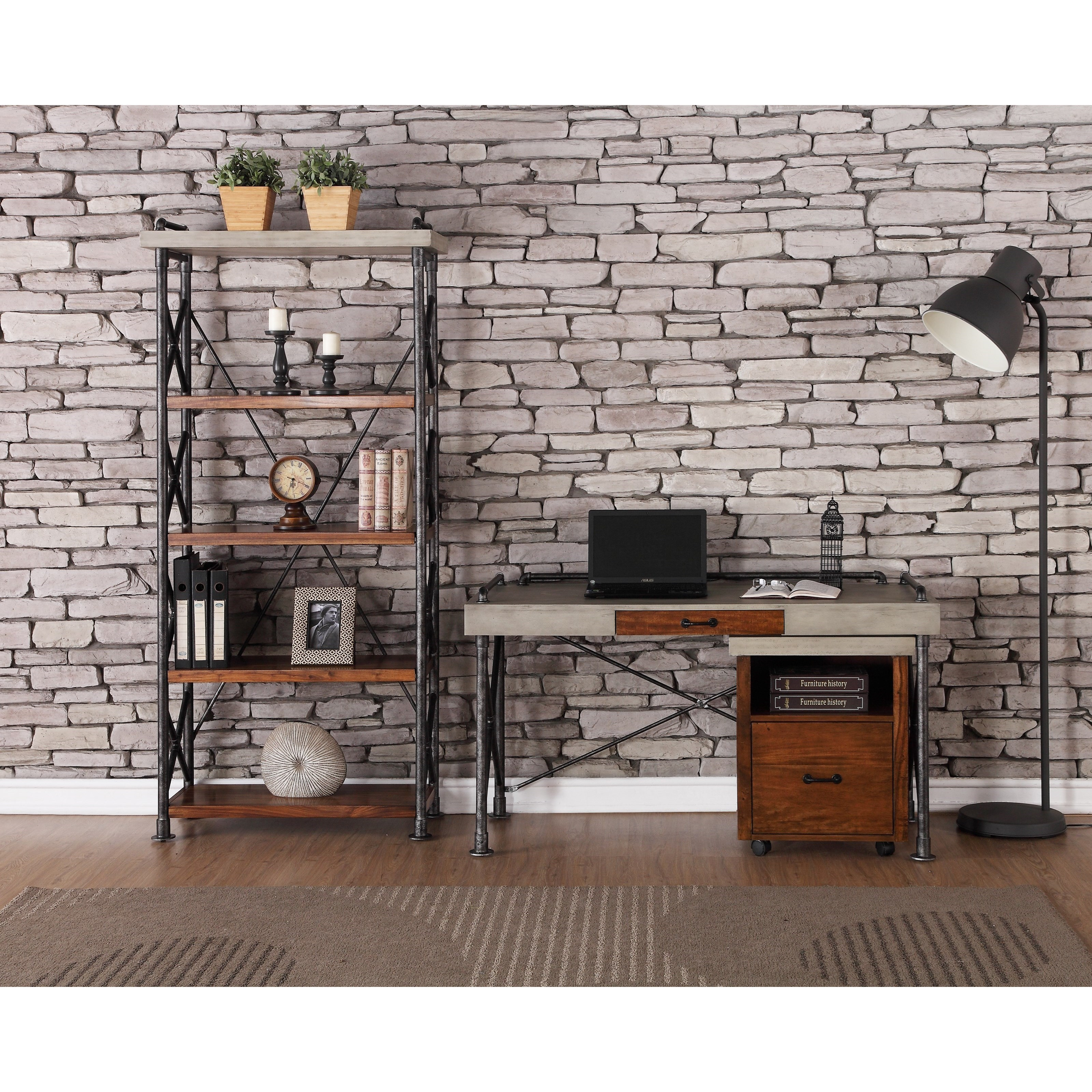 Legends Furniture Steampunk Collection ZSPK 6000 Industrial Home Office  Group | Dunk U0026 Bright Furniture | Office Groups