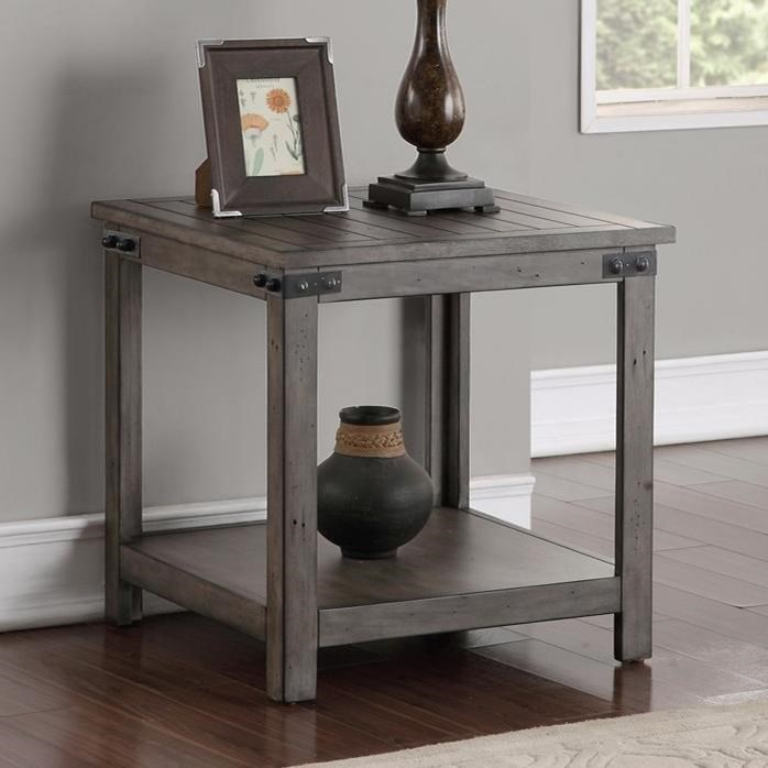 Legends furniture storehouse collection storehouse end table with shelf