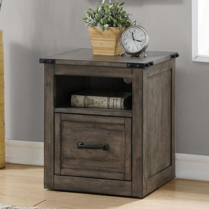 Legends Furniture Storehouse Collection Storehouse Rolling File With Shelf