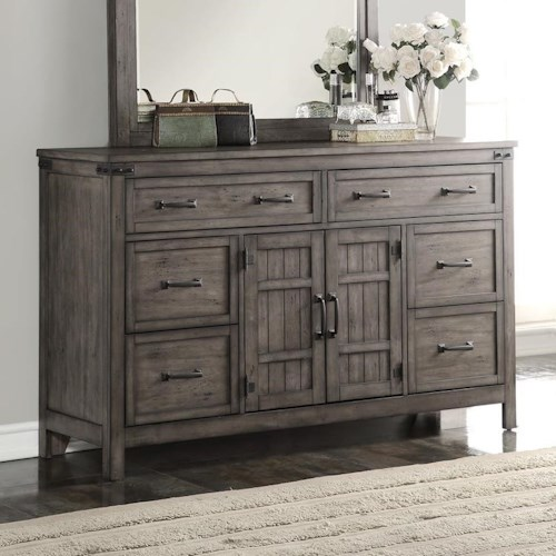 Legends Furniture Storehouse Collection Storehouse 6 Drawer Dresser