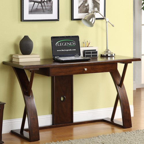 Legends Furniture Super Z Contemporary Single Drawer Writing Desk