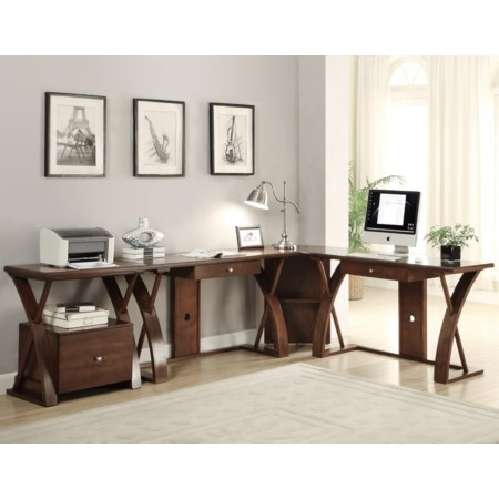 L-Shaped Desk Station