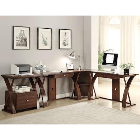 L-Shaped Desk Station