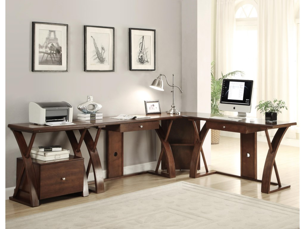 Legends Furniture Super ZL-Shaped Desk Station