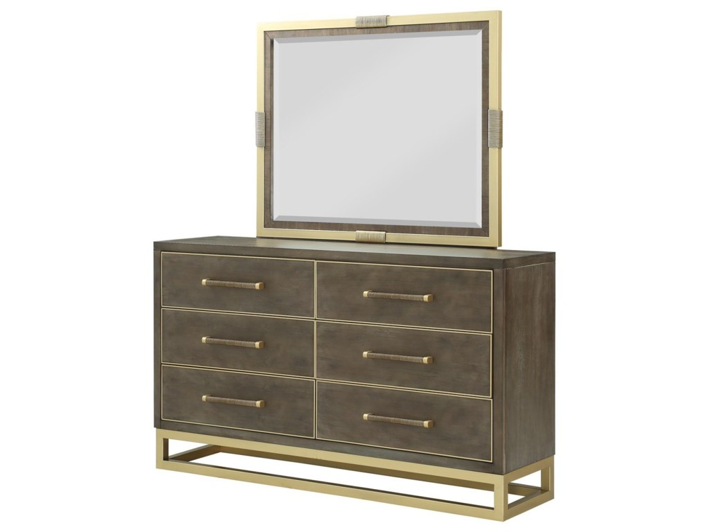 Tango Contemporary Dresser And Mirror Combination With Felt Lined Top Drawers By Vendor 1356 At Becker Furniture World