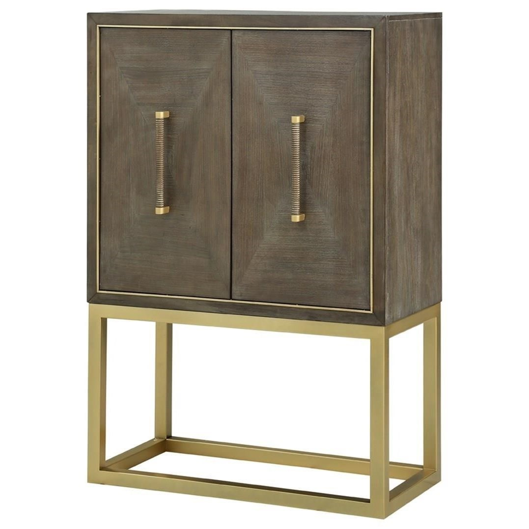 Delicieux Tango Contemporary Bar Cabinet With Brass Metal Base By Legends Furniture