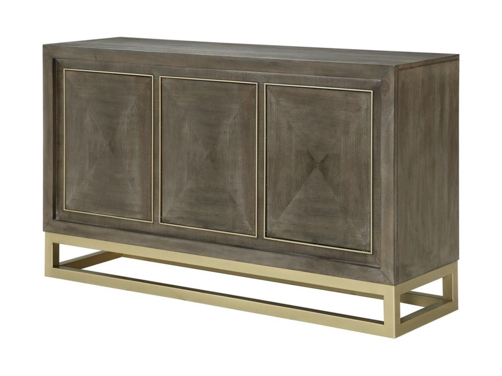 Legends Furniture Tango Contemporary Buffet Table With Brass Metal