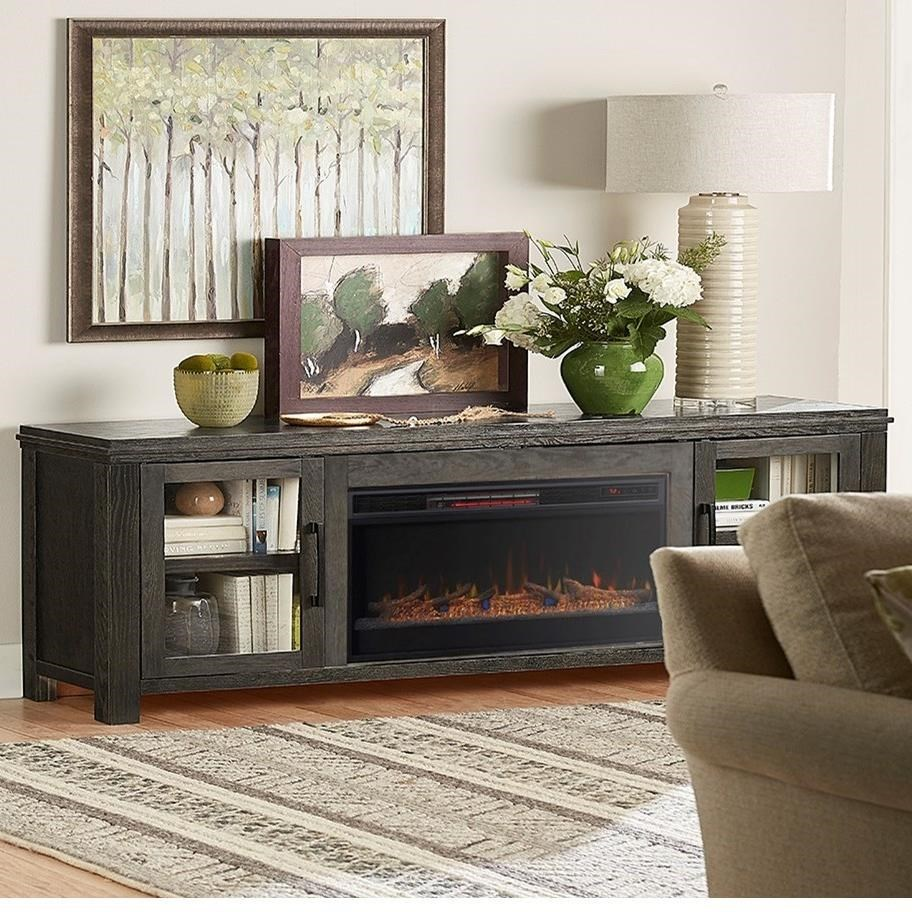 Tybee contemporary 86 fireplace console by vendor 1356