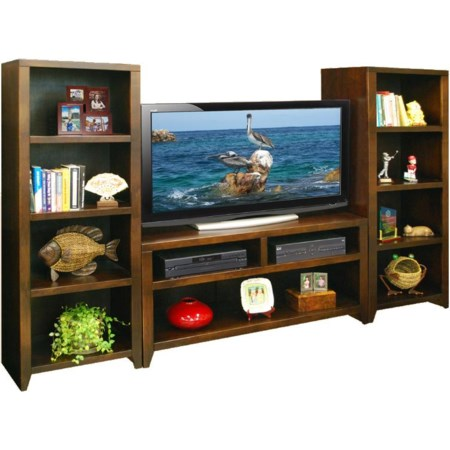 "48"" TV Cart & 2 Bookcase Piers"