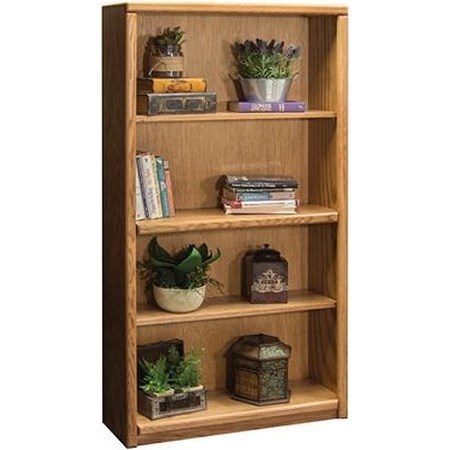 Bookcase With 1 Fixed & 2 adj. Shelves
