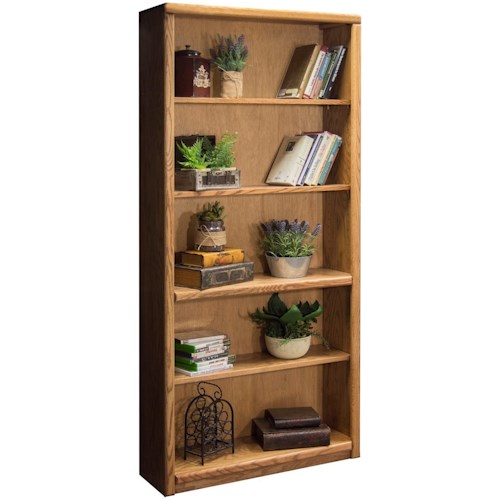 Legends Furniture Contemporary - Value Groups Bookcase With One Fixed and Three Adjustable Shelves