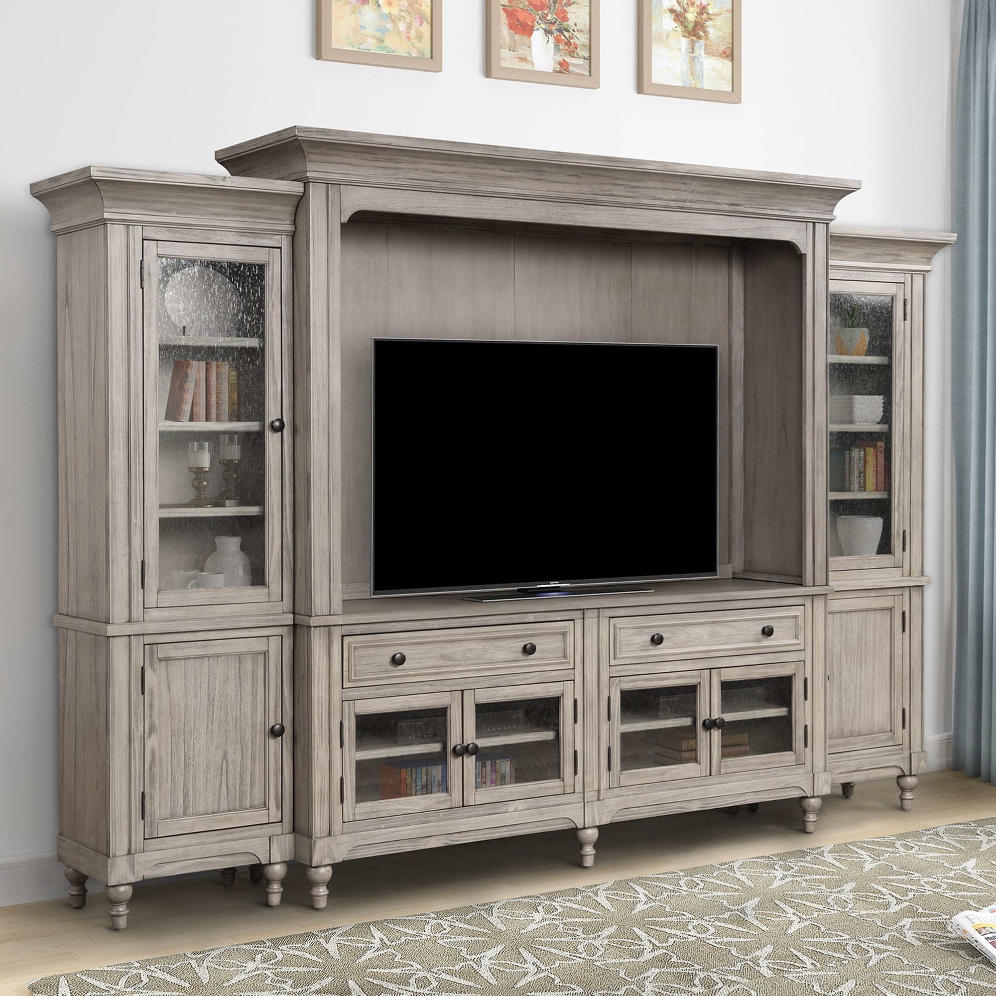 Cottage Style Entertainment Center with Storage