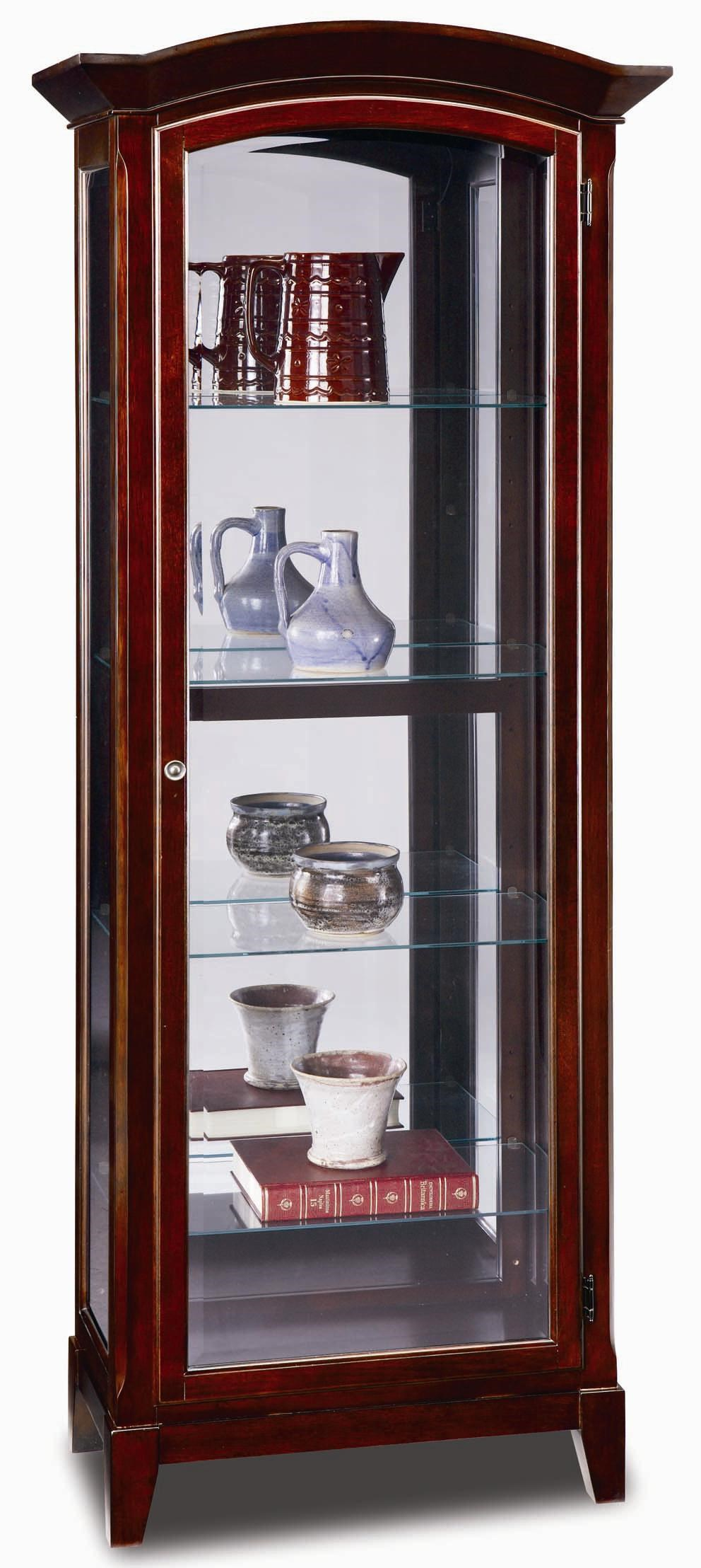 leick furniture curio cabinets and consoles arched top curio