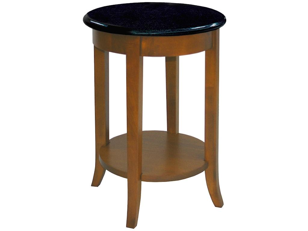 Leick Furniture Favorite FindsRound Granite Side Table