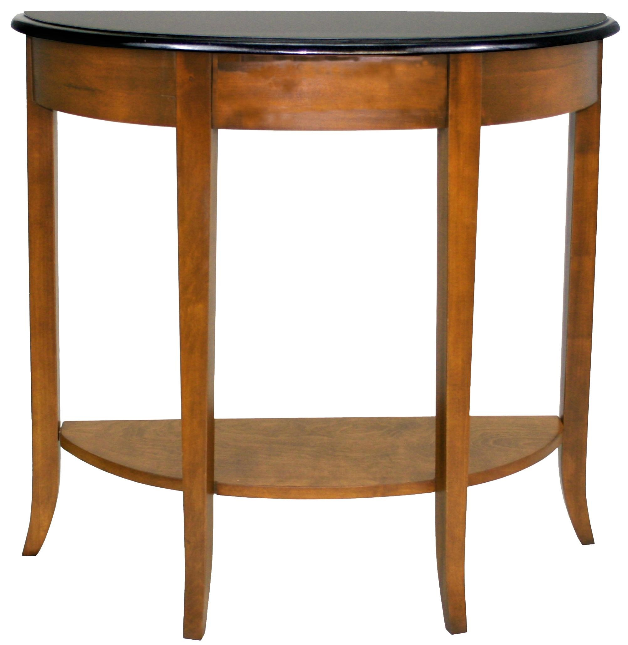 Favorite Finds Casual Demilune Granite Top Console With Shelf By Leick  Furniture. Favorite Finds Collection