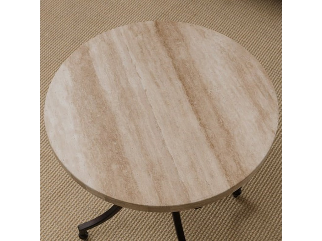 Leick Furniture TravertineRound Side Table
