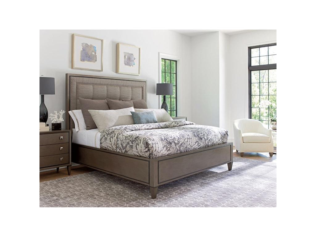 Lexington ArianaSt. Tropez Upholstered Panel Bed 5/0 Queen