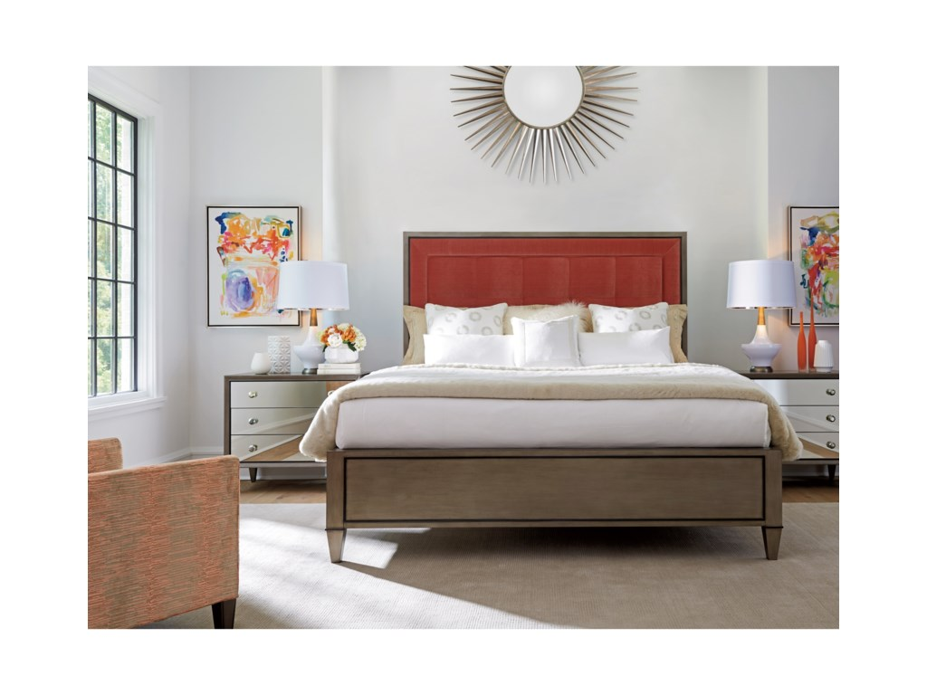 Lexington ArianaSt. Tropez 6/6 Custom Uph Panel Bed