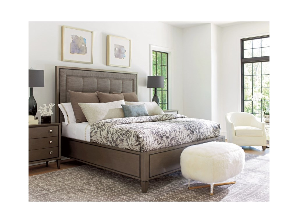 Lexington ArianaSt. Tropez Upholstered Panel Bed 6/6 King