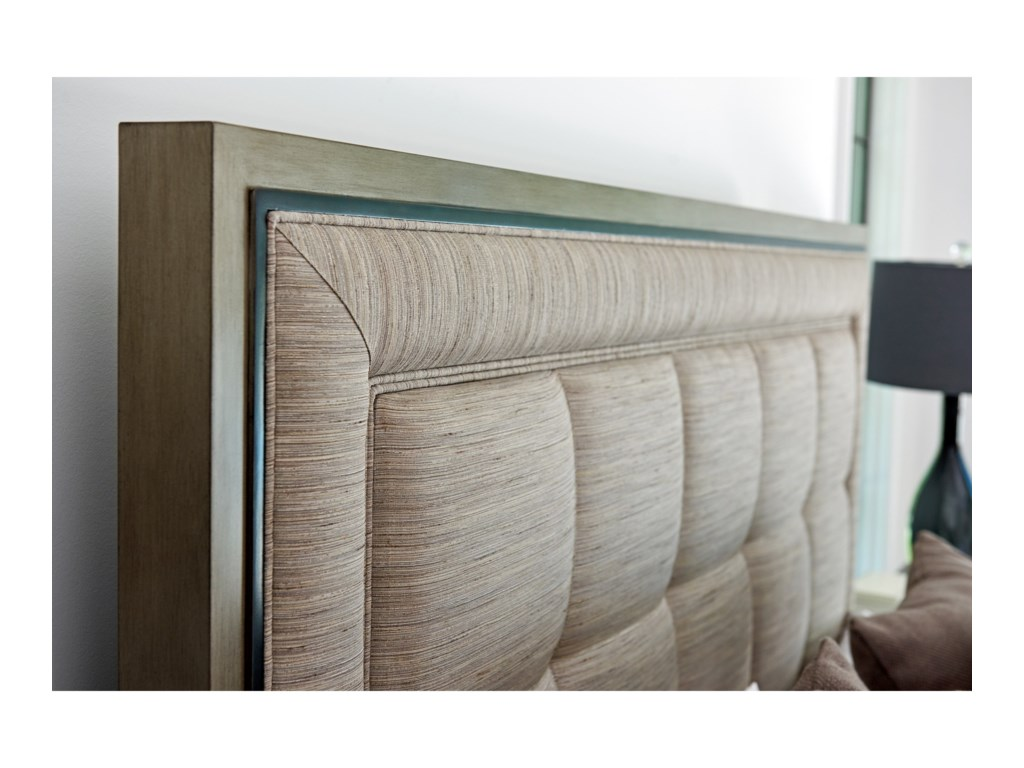 Lexington ArianaSt. Tropez Upholstered Panel Bed 6/0 Ca King